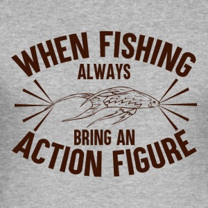 When Fishing Bring An Action Figure - Männer Slim Fit T-Shirt