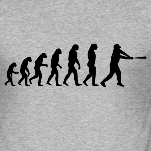 baseball evolusjon - Slim Fit T-skjorte for menn