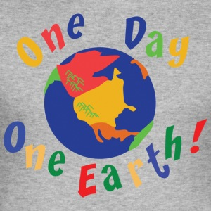 Jordens Dag One Day One Earth - Herre Slim Fit T-Shirt