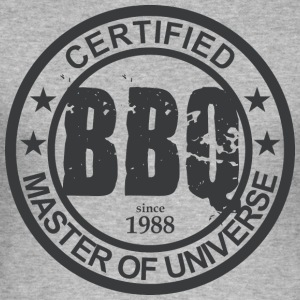 Certified BBQ Master 1988 Grillmeister - Men's Slim Fit T-Shirt