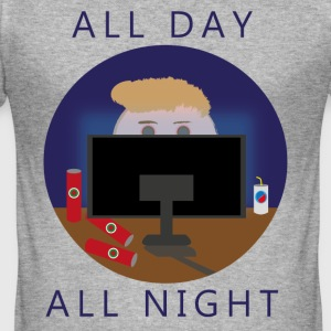 All Day - All Night | gaming - slim fit T-shirt