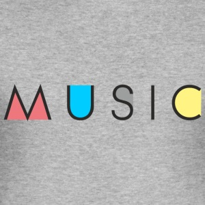 Music / Musik - Männer Slim Fit T-Shirt