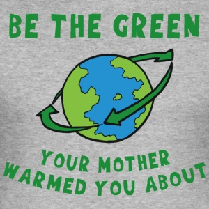 Jordens Dag Go Green - Herre Slim Fit T-Shirt