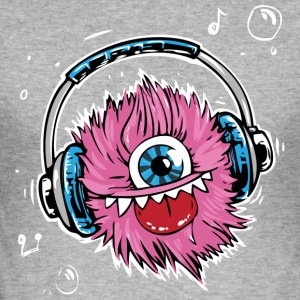pink monster - Men's Slim Fit T-Shirt