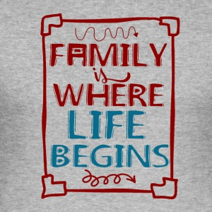 Familie - My Life - Slim Fit T-skjorte for menn