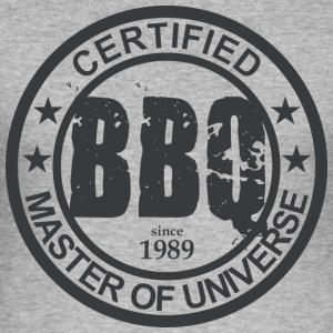 Certified BBQ Master 1989 Grillmeister - Men's Slim Fit T-Shirt
