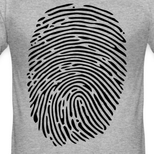 finger print - Slim Fit T-skjorte for menn