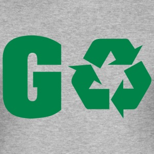 Dag van de Aarde Recycle Go Green - slim fit T-shirt