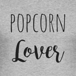 popcorn lover - Slim Fit T-skjorte for menn