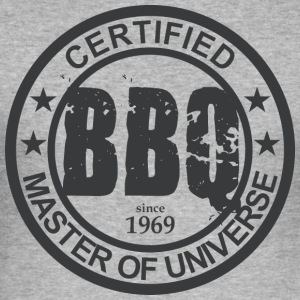 Certified BBQ Master 1969 Grillmeister - Men's Slim Fit T-Shirt
