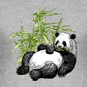 Panda_TS - Männer Slim Fit T-Shirt