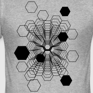 Kosmiske Honeycomb - Slim Fit T-skjorte for menn