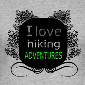 i love hiking adventures - love for hiking - Men's Slim Fit T-Shirt