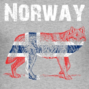 Nation-Design Norway Wolf - Men's Slim Fit T-Shirt