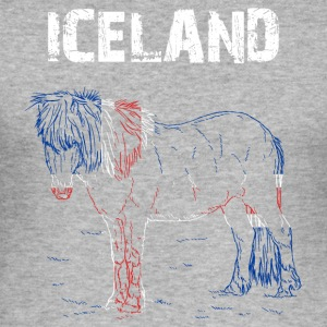 Nation-Design Island Horse - Slim Fit T-skjorte for menn