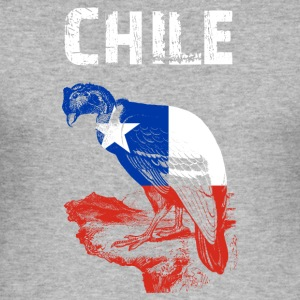 Nation-design Chile Condor - Herre Slim Fit T-Shirt