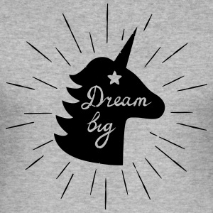 DreamBig - Männer Slim Fit T-Shirt