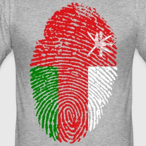 OMAN FINGERABDRUCK T-SHIRT - Männer Slim Fit T-Shirt
