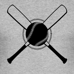 Baseball Crossed - Männer Slim Fit T-Shirt