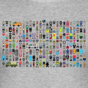 Society Pixel Art - slim fit T-shirt