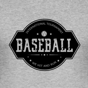 Baseball - Hit and Run - Men's Slim Fit T-Shirt