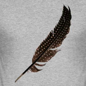 Guinea Fowl Feather - Herre Slim Fit T-Shirt