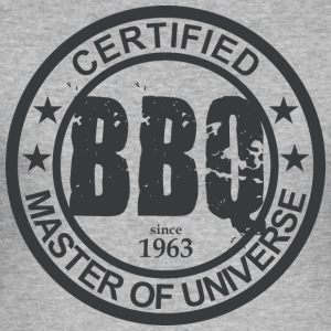 Certified BBQ Master 1963 Grillmeister - Men's Slim Fit T-Shirt