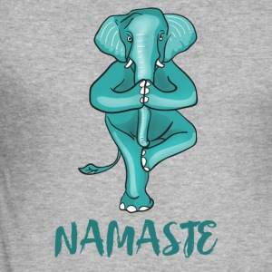 elephant-namaste yoga meditation tree ganesha ohm - Men's Slim Fit T-Shirt