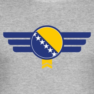 Bosnia flag emblem - Men's Slim Fit T-Shirt