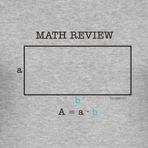 Math Review Rectangle - Maglietta aderente da uomo