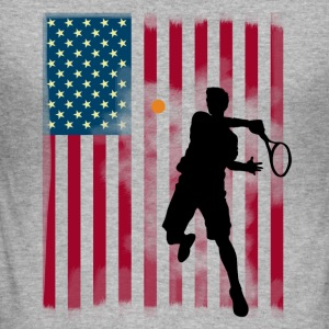 tennis us Open America flagg tibreak Spieler stern - Männer Slim Fit T-Shirt