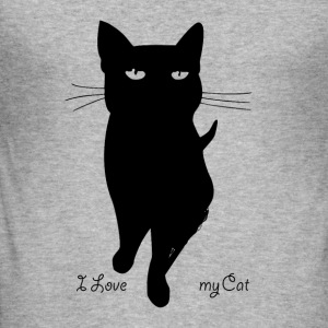 i_love_my_cat - Männer Slim Fit T-Shirt