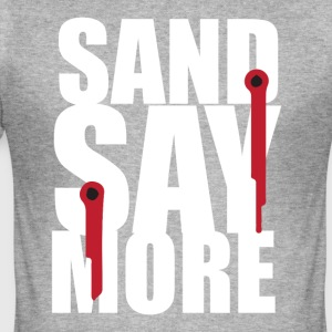 sand say more - Tee shirt près du corps Homme