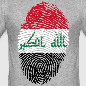 IRAQ FINGERABDRUCK - Männer Slim Fit T-Shirt