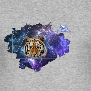 Galaxy Tiger - Männer Slim Fit T-Shirt