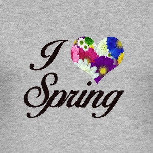 I LOVE SPRING FLORAL - Männer Slim Fit T-Shirt
