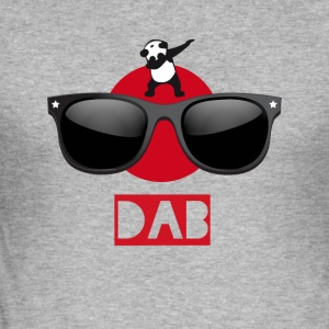Panda sun dab it dabbing Dance Football touchdown - Men's Slim Fit T-Shirt