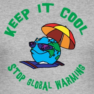 Tag der Erde Stop Global Warming - Männer Slim Fit T-Shirt