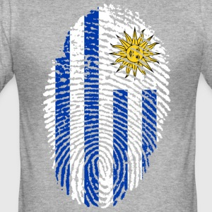 URUGUAY FINGERPRINT T-SHIRT - Men's Slim Fit T-Shirt