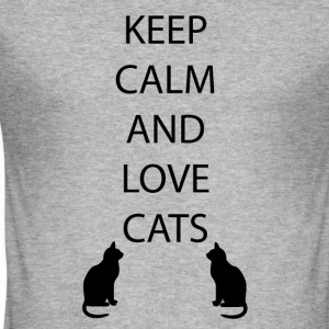 Cats Keep Calm - slim fit T-shirt