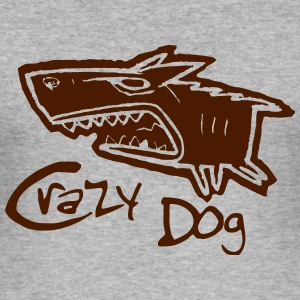 crazy dog - Männer Slim Fit T-Shirt