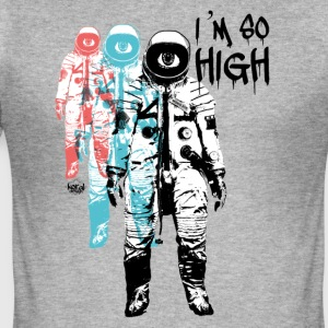 Høy Cosmonaut Flight reise tur - Slim Fit T-skjorte for menn