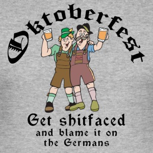Funny Oktoberfest German Drinking - Men's Slim Fit T-Shirt