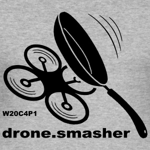 drone-smasher - Slim Fit T-skjorte for menn