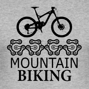 Mountainbike Gears - kärlek för mountainbike - Slim Fit T-shirt herr