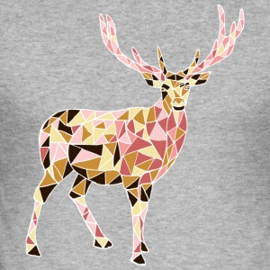 Deer - Slim Fit T-skjorte for menn