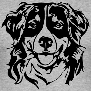 BERNESE MOUNTAIN DOG PORTRAIT - Men's Slim Fit T-Shirt