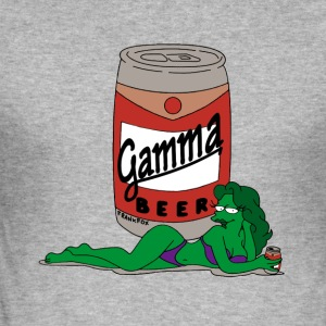 Gamma_beer_gif - Slim Fit T-skjorte for menn