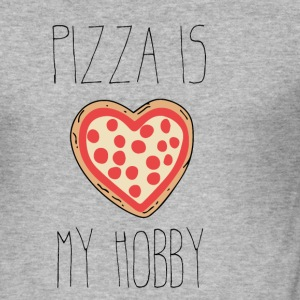 Pizza är min hobby - Slim Fit T-shirt herr