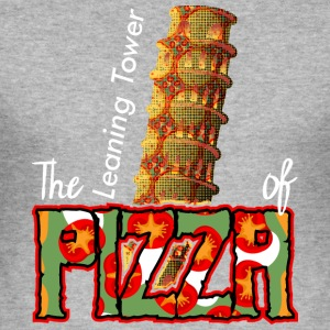 The Leaning Tower Of Pizza - Men's Slim Fit T-Shirt